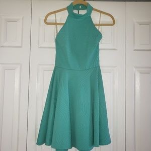 Turquoise halter dress